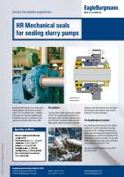 Solution: HR Mechanical seals for sealing slurry pumps