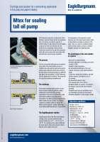 Solution: Metal bellows cartridge seal Mtex for sealing tall oil pump